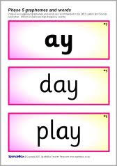 Phonics printable worksheets and activities (word families). Phase 5 Grapheme And Word Cards Sb840 Sparklebox Word Cards Printable Teaching Resources Words