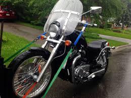 towing a suzuki boulevard s40 motorcycle in toronto