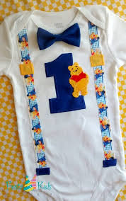 First Birthday Outfit Boy Winnie The Pooh Birthday Baby Boy Theme
