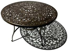 round metal outdoor coffee table lovely marvelous patio
