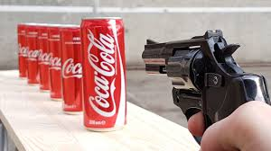 EXPERIMENT GUN vs COCA COLA - YouTube