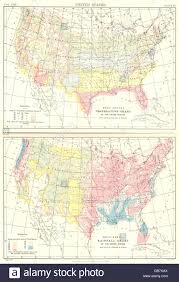Usa Mean Annual Temperature Chart Rainfall Britannica 9th