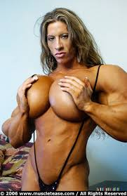 Muscular femal porn star