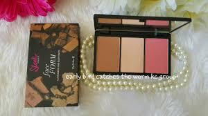 sleek makeup face form contouring and blush palette light 373 ไฮไลต หน า