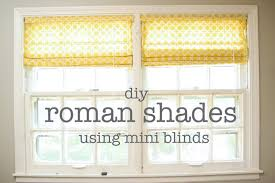 diy window treatments roman shades