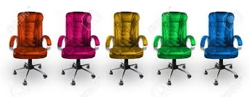 colorful office chairs. Beautiful Office Colorful Office Chairs  Red Pink Yellow Green And Blue Stock Photo On H