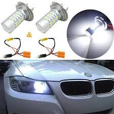 Bmw 1 Series Daytime Running Light Bulb Details About 2x 12v Hid White H7 27smd Led Bulbs Daytime Running Light Kit For Bmw 3 5 Series