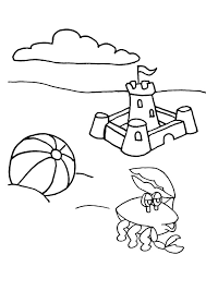 Small Picture Beach ball coloring pages and sand castle ColoringStar