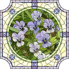 vector ilration of flower purple pansies stock vector