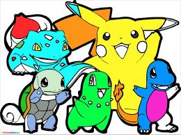 Tranh tô màu Pokemon đáng yêu cho bé thỏa sức sáng tạo