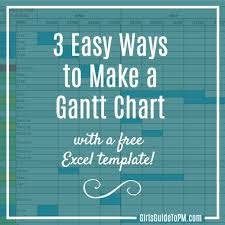 3 Easy Ways To Make A Gantt Chart Free Excel Template