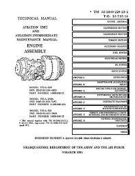Lycoming T53-L-13B Turbine Aircraft Engines Manual TO 2J-T53-16-1 ...