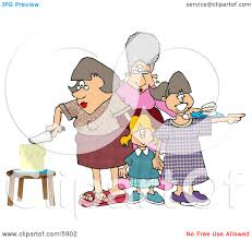 Mother Cutting Her Daughters Birthday Cake Clipart Picture By Djart