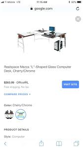 realspace mezza desk marvelous glass computer