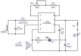simple metal detector circuit diagram using cs209a electro circuit diaggram