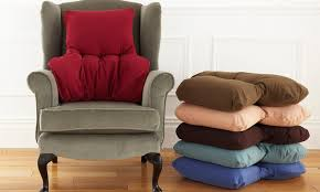 ... Ideas Of Armchair Back Support Also Back Support Cushion Groupon Goods  Regarding Stylish Home Back ...