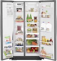Top Ten Side By Side Refrigerators Whirlpool Wrs571cidm 36 Inch Counter Depth Side By Side