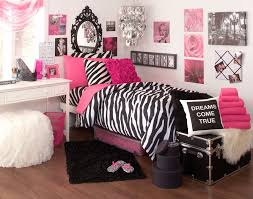 Modern Pink Zebra Bedroom
