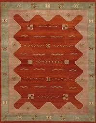 rugsville gabbeh tribal wool rust brown rug 11186 5x8 southwestern area rugs by rugsville