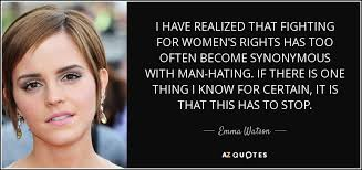 Women's Rights Quotes Gorgeous Women's Rights Quotes Fair Emma Watson Quote I Have Realized That