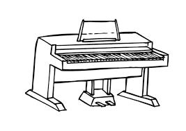 Piano Kleurplaat Malvorlage Piano Ausmalbild 9590 Kleurplatenlcom