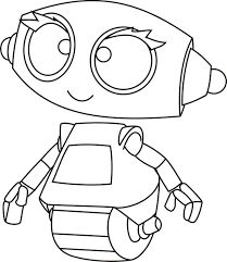 Robots Legged Wheel Coloring Pages For