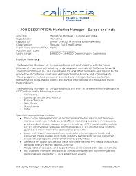 marketing manager resume job description marketing cover letter cover letter marketing manager resume job description marketingduties of s and marketing manager