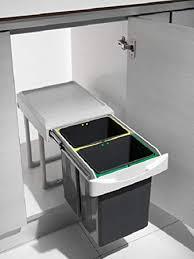 Great Küchen Einbau Abfalleimer Virtus 2, Lichtgrau, 2x 7,5 Liter, Handauszug