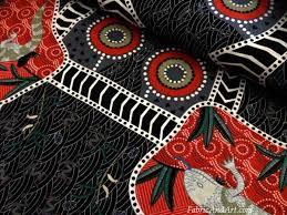 Largest selection of Australian Aboriginal quilting fabrics at ... & Blue tongue aboriginal design fabric Adamdwight.com
