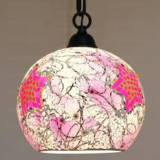 pink pendant light blown glass pendant lights and pink color shade for girls pink pendant light