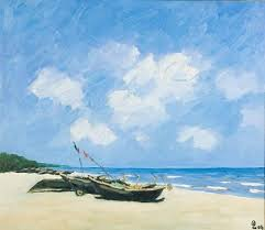sav jon beach is a true portrait of this vietnamese beach with it s deep blue colors