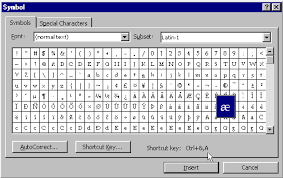 Ansi Character Chart Inserting Special Characters