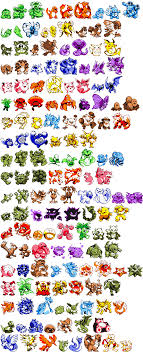 Pokemon Yellow Pokemon Chart D R N R D X Transparent Version Of All Of The Pokemon