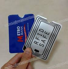 aluminum foil credit card protector rfid blocking sleeve 2