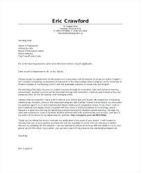 English Cover Letter Teacher Cover Letter Sample Cover Letter For