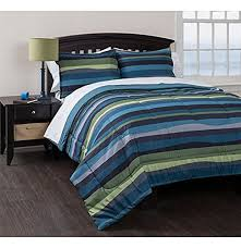 blue and green bedding. Unique And Green Accents Bed In A Bag American Original Blue Pacific Stripe  Reversible Complete Bedding Set Intended And