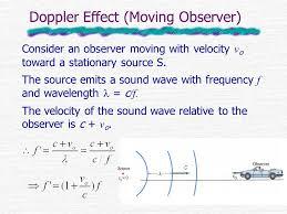 4 doppler effect moving observer