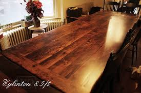 reclaimed wood dining table harvest tables toronto reclaimed wood tables ontario
