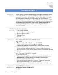 Resume Sous Chef Resume Examples With Regard To Resume For Chef