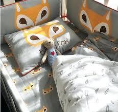 fox baby bedding baby bed set per cotton fox pattern baby bedding newborn cartoon quilt cover fox baby bedding