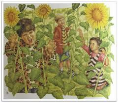 Sunny Sunflower House Flag  FeaturedSunflower House