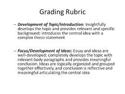 "beowulf"" assessment essay due wednesday prefer it to be  grading rubric development of topic introduction insightfully develops the topic and provides relevant"