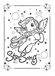 my little pony coloring page mlp star song