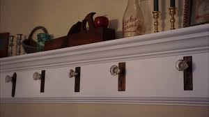 Behind The Door Coat Rack Antique Door Knob Coat Rack Build YouTube 52