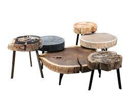 low round solid wood coffee table bc05