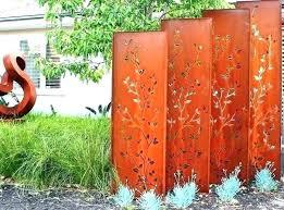 decorative privacy screens outdoor decorative outdoor privacy screens free standing garden metal in increased outdoor decorative