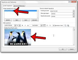 How To Remove A Picture From An Outlook 2013 Email Signature Solve