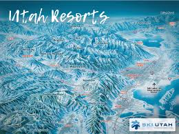 Utah Ski Resort Comparison Chart Utah Ski Resorts Map Area Info Ski Utah