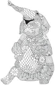 Challenging Coloring Pages Challenging Coloring Pages Of Elephant
