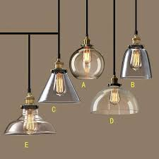country lighting fixtures vintage glass pendant lamp kitchen lights modern industrial canada